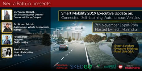 Smart Mobility 2019 Executive Update: on Autonomous, Connected Vehicles tickets