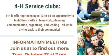4-H Service Clubs tickets