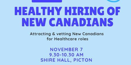 Healthy Hiring: Attracting New Canadians for Health Care Roles tickets