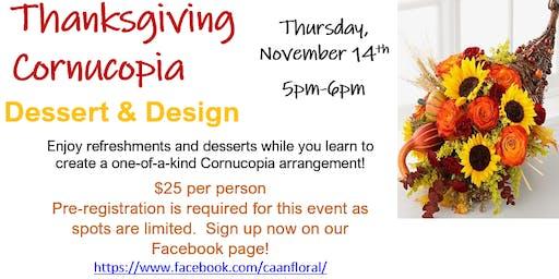 Thanksgiving Cornucopia Dessert and Design