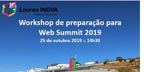 Workshop de preparação Web Summit 2019 bilhetes