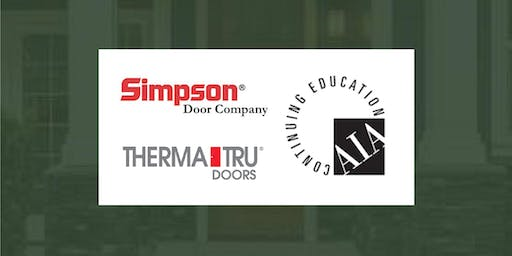 Woodhaven CE Series: AIA  Seminar with Therma-Tru and Simpson Door Company
