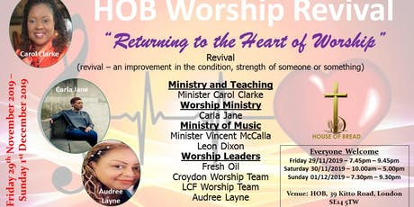 HOB Worship Revival tickets