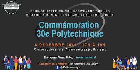 Commémoration 30e Polytechnique billets