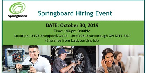 Springboard Hiring Event