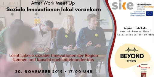 "AfterWork Meetup ""Soziale Innovationen lokal verankern"""