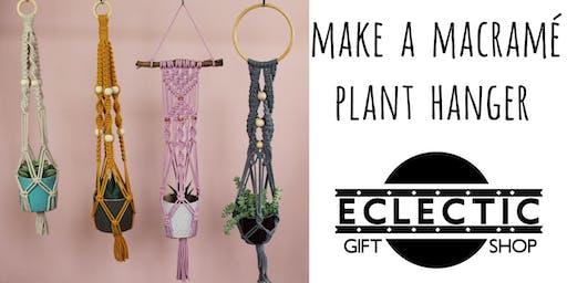 Make a Macramé Plant Hanger (Adults)