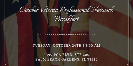 October Veteran Professional Network Breakfast