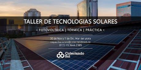 Taller de Tecnologías Solares // Mar del Plata Nov-Dic entradas