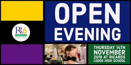 RR6 Open Evening 2019 - Male Ticket - Option 1 - 5:30pm tickets
