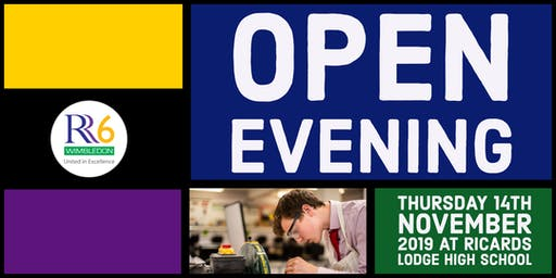 RR6 Open Evening 2019 - Male Ticket - Option 1 - 5:30pm