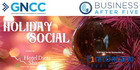 Business After 5 Holiday Social - December 3, 2019 tickets