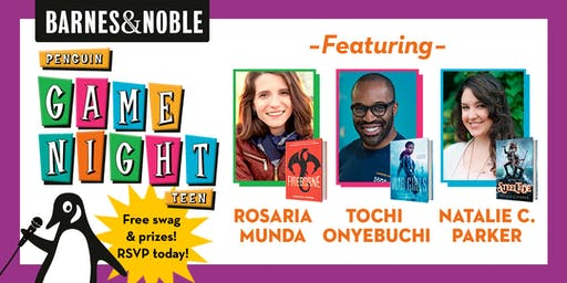 Join B&N Frisco for Penguin Teen Game Night for fun with YA authors!