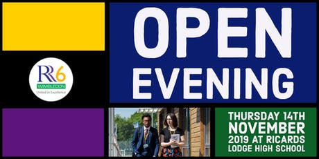 RR6 Open Evening 2019 - Male Ticket - Option 2 - 6pm tickets