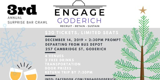 Surprise Beverage Tour - Engage Goderich 3rd Annual