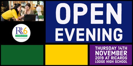 RR6 Open Evening 2019 - Female Ticket - Option 2 - 6pm tickets