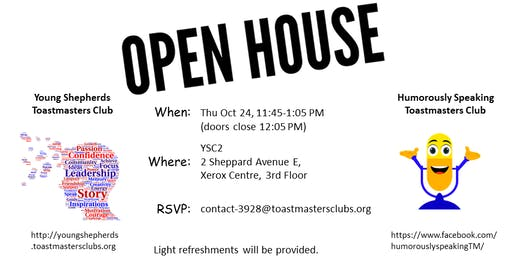Young Shepherds and Humorously Speaking Toastmasters Open House