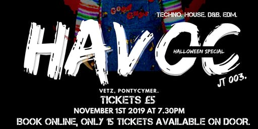 JT 003. Tekartel Presents: HAVOC - Haloween Bash. VETZ. Nov 1st.
