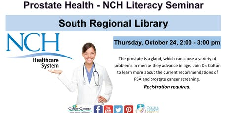 Prostate Health   - NCH Literacy Seminar at South Regional Library tickets