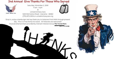 2nd Annual Give Thanks For Those Who Served tickets