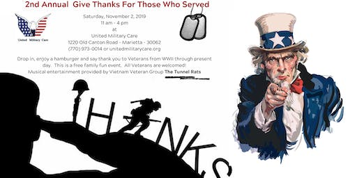2nd Annual Give Thanks For Those Who Served