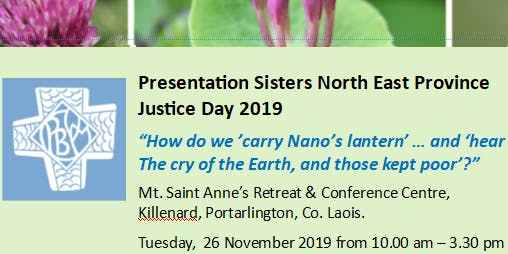 Presentation Sisters North East Province Justice Day 2019