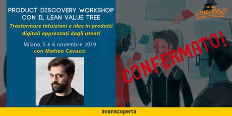 Product Discovery Workshop con il Lean Value Tree biglietti