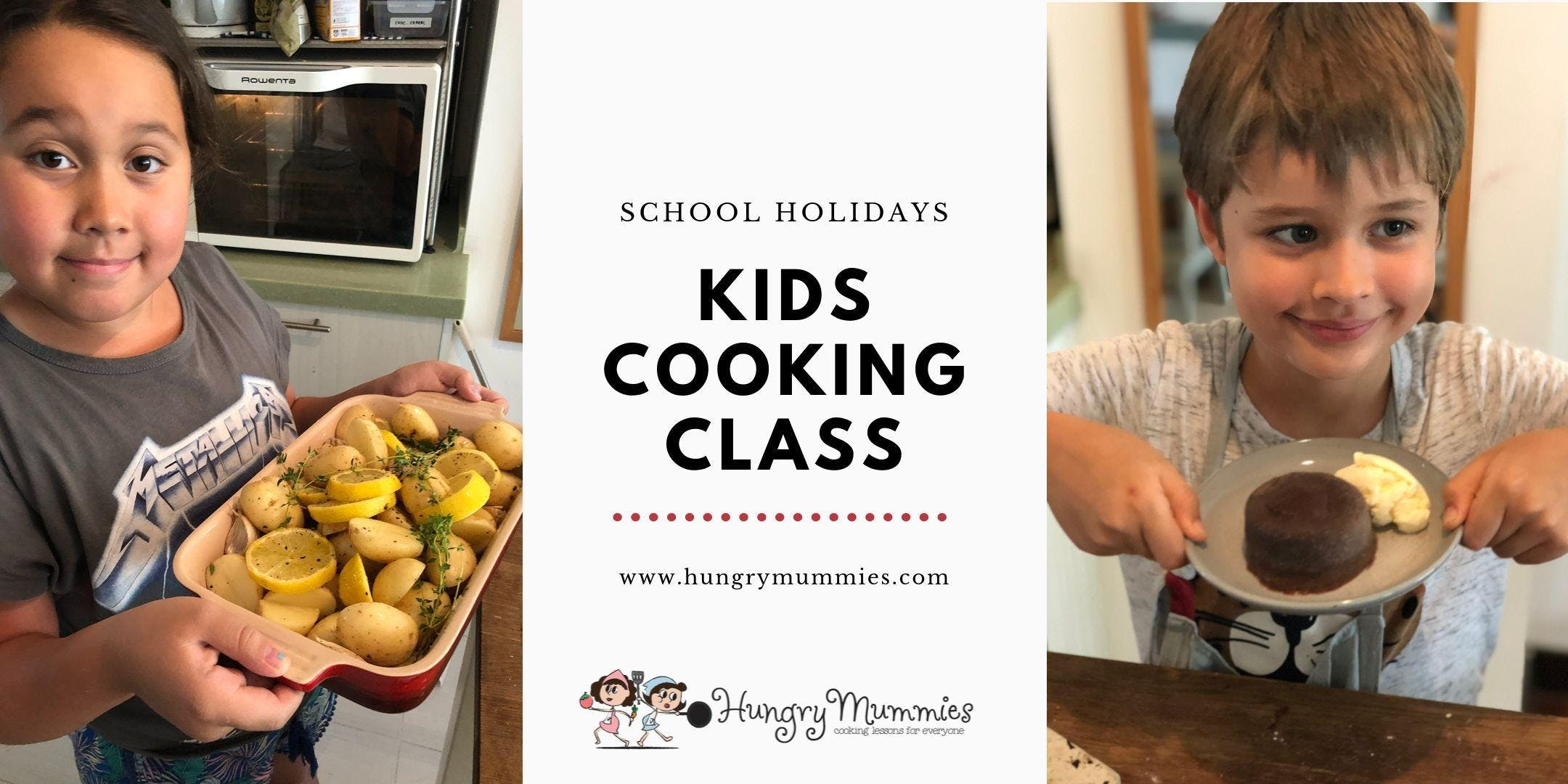 Kids Cooking Class - Carbonara, Spinach & Cheese Pastry, Chocolate Fondant