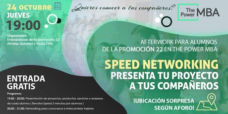 Afterwork Promoción 22 The Power MBA entradas