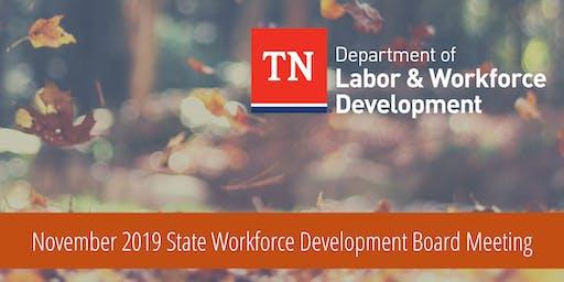 November 2019 State Workforce Development Board Meeting