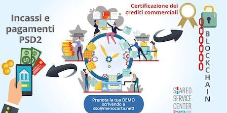 PSD2 e Blockchain nella strategia di un Centro Servizi Amministrativo biglietti