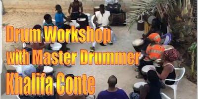 Drum Workshop with Master Drummer Khalifa Conte