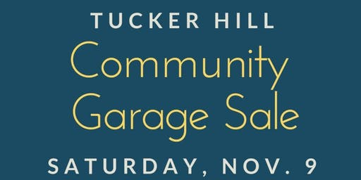 Fall 2019 Community Garage Sale