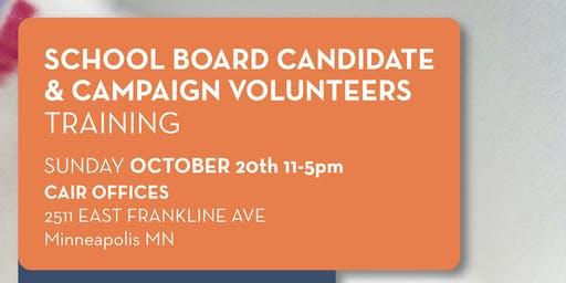 School Board Candidates Training