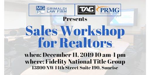 Realtor Sales Workshop