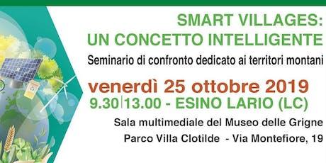 Focus su Smart Villages al seminario  ERSAF dedicato ai territori montani biglietti