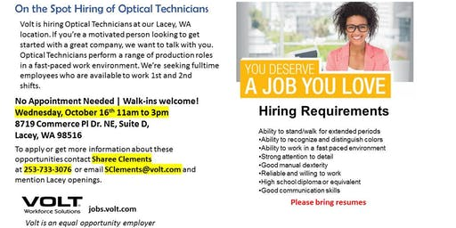On the Spot Hiring Event