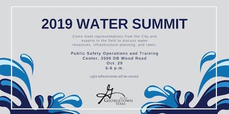 2019 Water Summit tickets