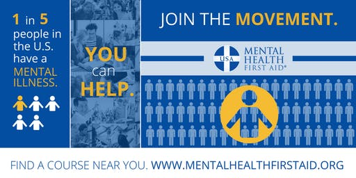 FREE Adult Mental Health First Aid Training