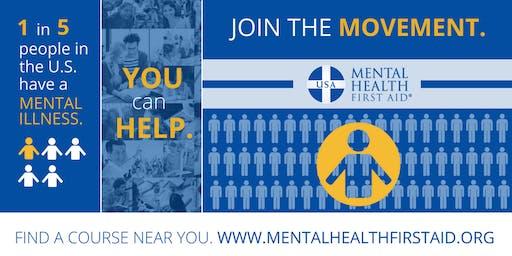 FREE Adult Mental Health First Aid Training