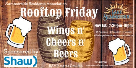 Rooftop Friday Wings n' Cheers n' Beers sponsored by Shaw tickets