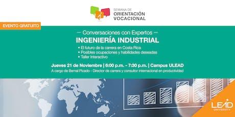 Conversaciones con expertos - Ingeniería Industrial tickets