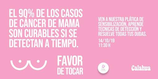 CIMA y Calahua invitan: Plática de sensibilización sobre el cáncer de mama.