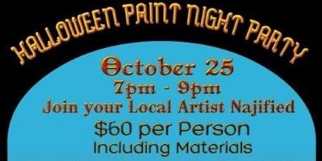 Halloween Paint Night Party