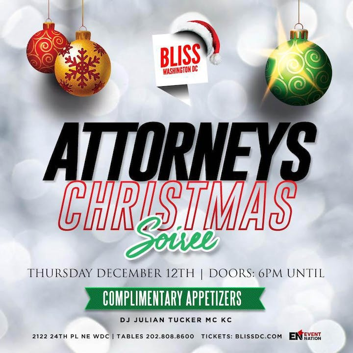 Christmas Events Dc 2019.The 41st Annual Attorneys Christmas Soiree 2019 Tickets Thu