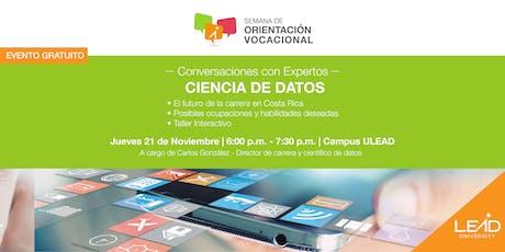 Conversaciones con expertos - Ing. Ciencia de Datos tickets