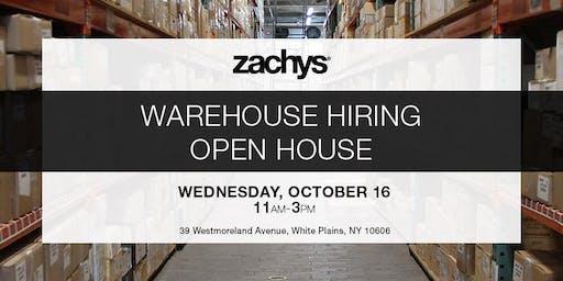 Zachys Warehouse Hiring Open House Event