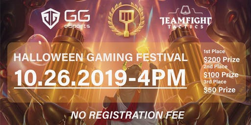 Halloween Gaming Festival Free to join Over $300 prize