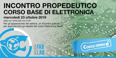 Corso Base di Elettronica | Serata gratuita di introduzione