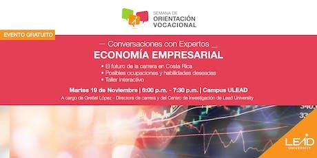 Conversaciones con expertos - Economía Empresarial tickets